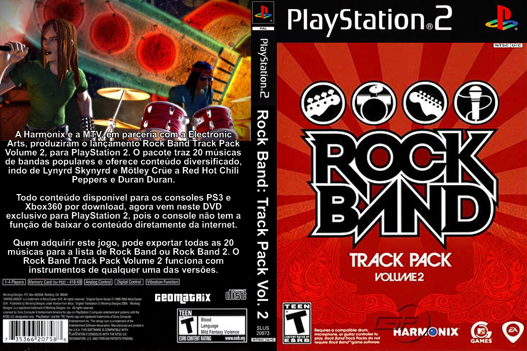 rock band track pack volume 2 ps2 g1460 bem vindo a nossa loja virtual. Black Bedroom Furniture Sets. Home Design Ideas