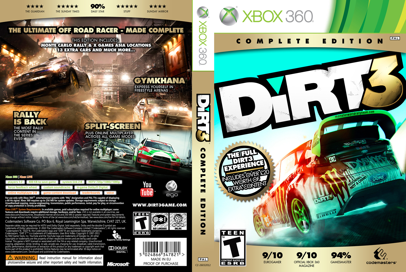 Buy dirt 3 complete edition steam cd-key global and download.