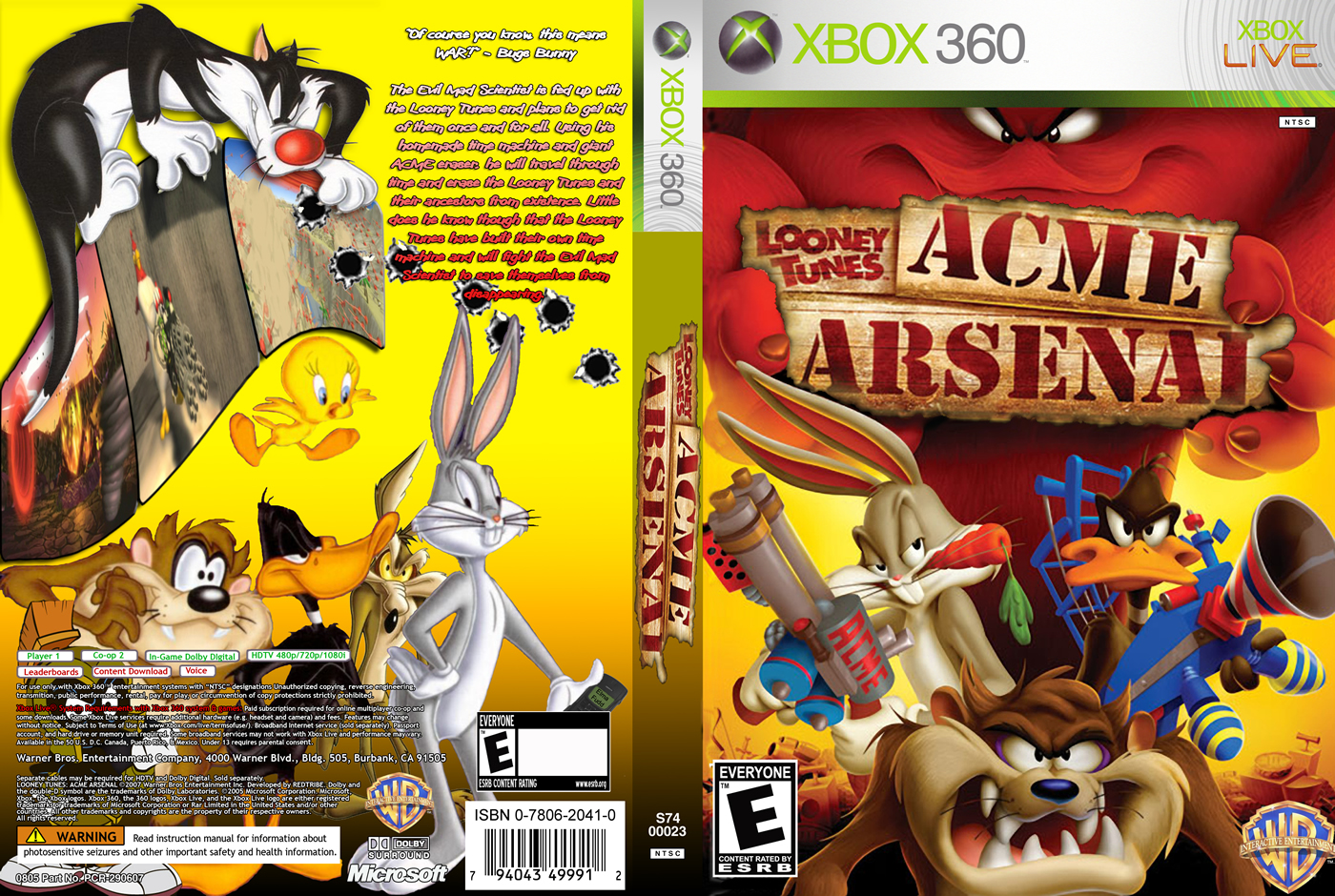looney tunes acme arsenal (xbox360) [ w0532 ] bem vindo(a  xbox 360 game ssx in category gaming